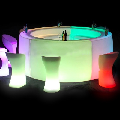 Light up Round bar for rent