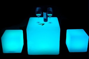 Glowing tables for rent