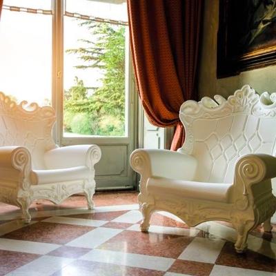 White Throne Chair rental near me