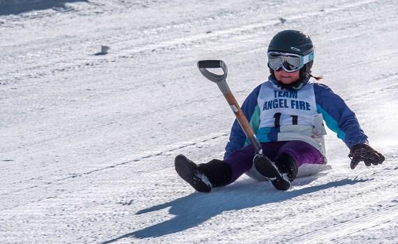 Winter Shovel Racing