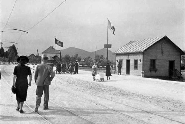 1943 - meja med italijansko in nemško cono, Šentvid