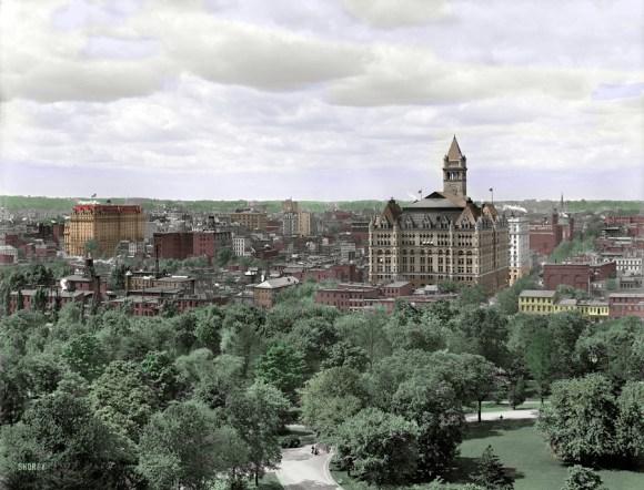 Willard Hotel in pošta, Washington D.C., 1904 (foto: Shorpy)