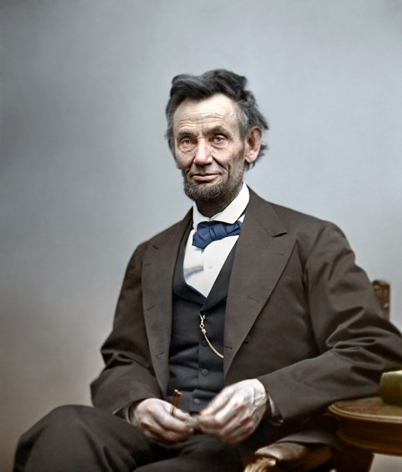 Abraham Lincoln, 1865 (foto: Shorpy)