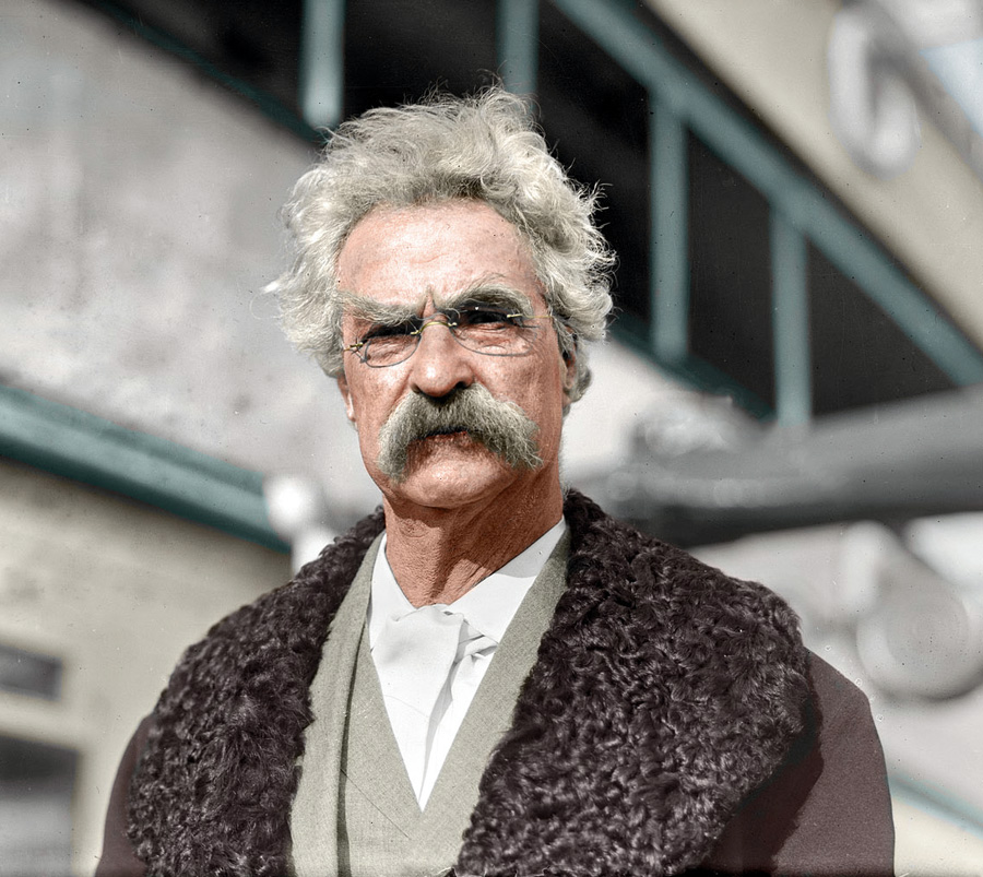 Mark Twain, 1909 (foto: Shorpy)