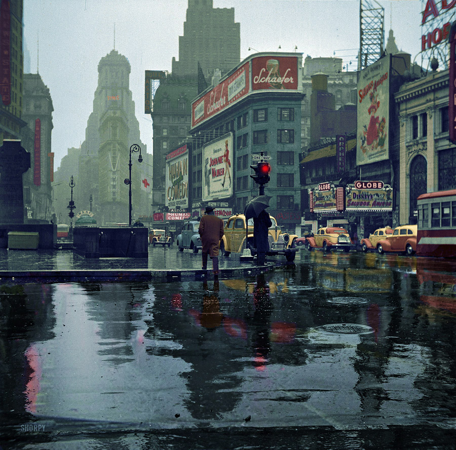 Times Square, New York, 1943 (foto: Shorpy)