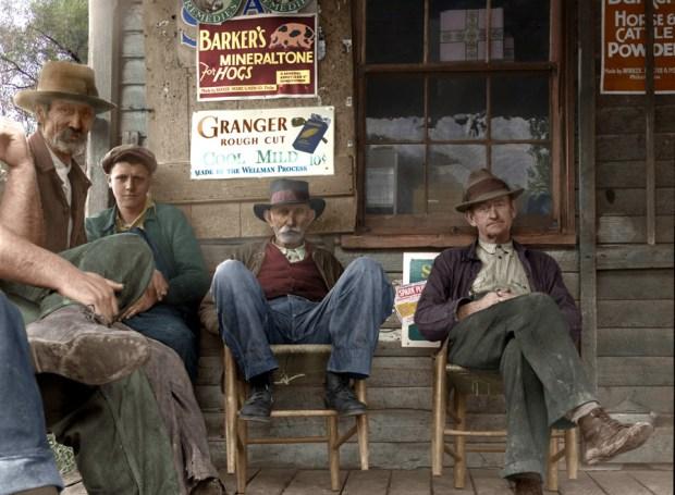 Počitek pred pošto, Virginia, 1935 (foto: Shorpy)
