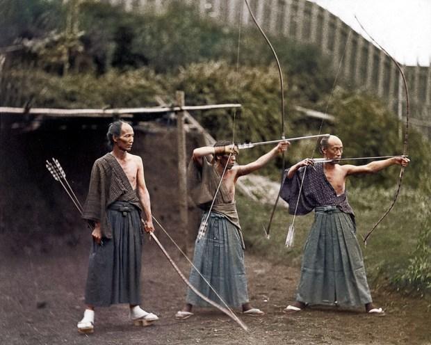 Japonski lokostrelci, cca 1860 (foto: PhotoJacker/Reddit)