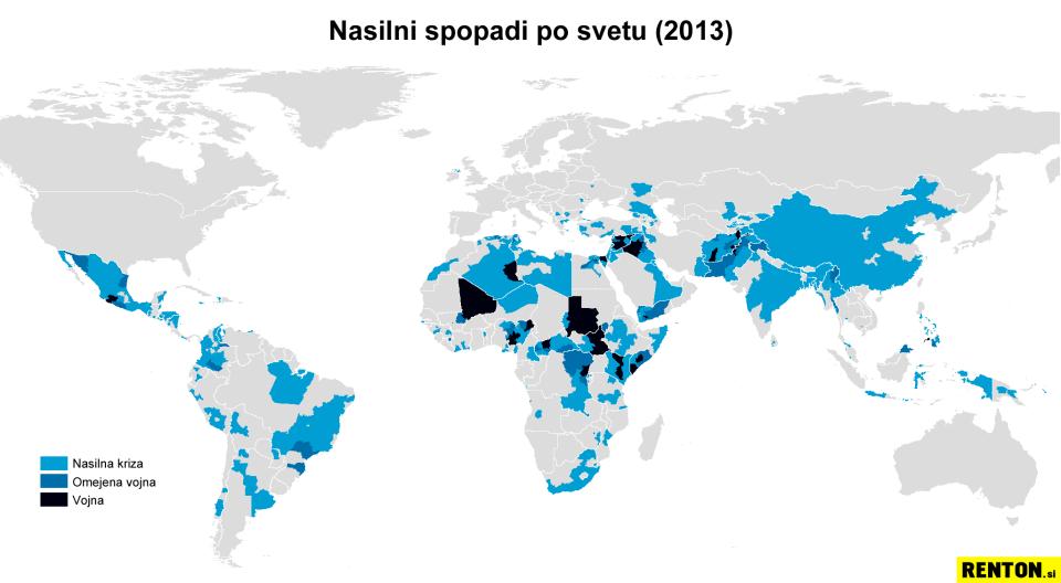Nasilni spopadi po svetu leta 2013