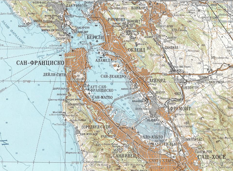 Sovjetski zemljevid San Francisca