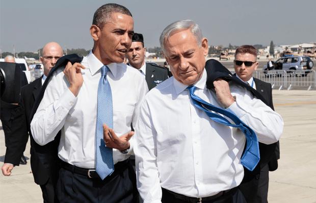 Barack Obama in Benjamin Netanjahu v Izraelu, 2013 | Wikimedia