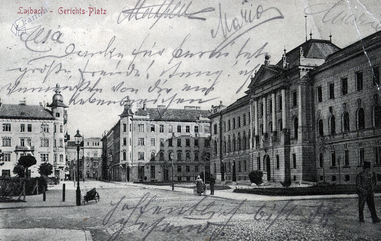 1911 - Tavčarjeva ulica in sodna palača