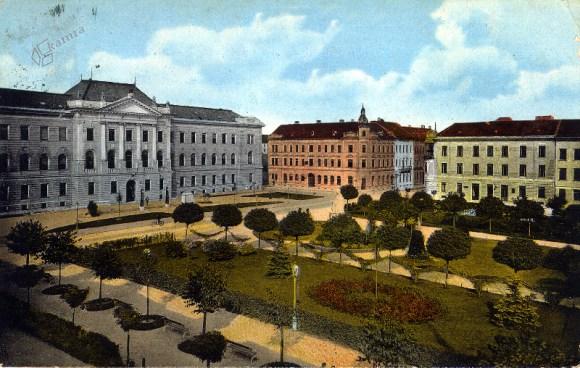 1912 - Miklošičev park in sodna palača