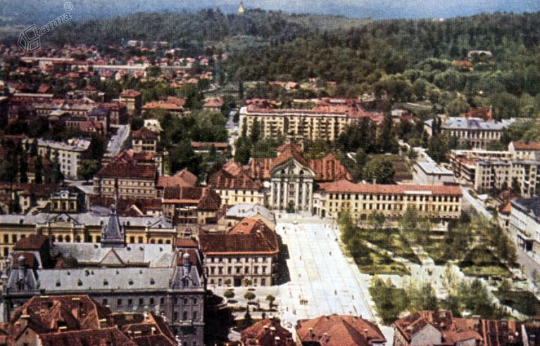 1955 - Kongresni trg iz zraka