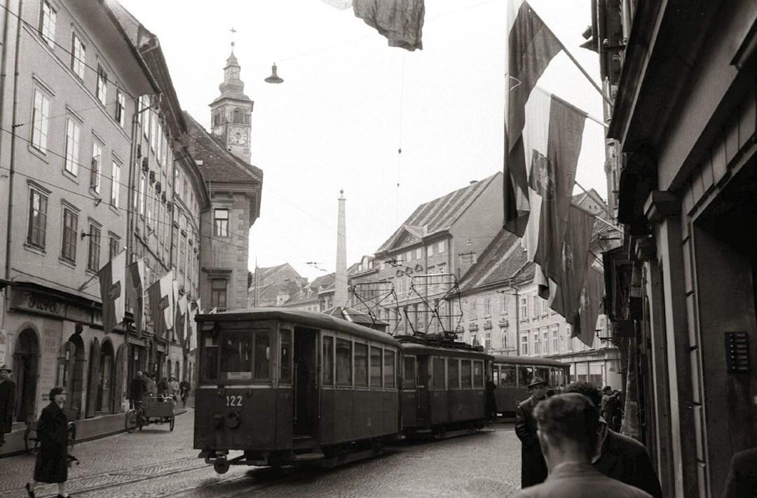 1958 - ena zadnjih voženj tramvaja, preden so ga ukinili