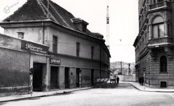 1960 - Knjigoveznica Triglavske tiskarne na začetku Male ulice