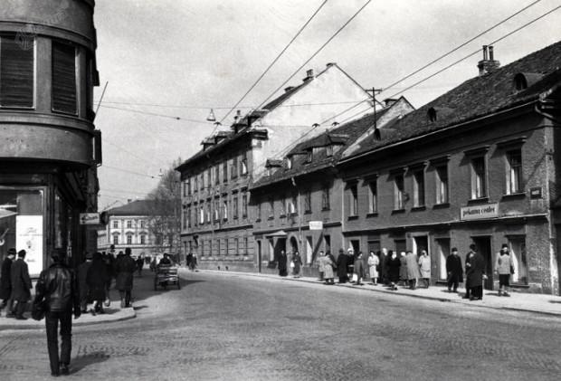 1960 - križišče Slovenske in Erjavčeve ulice