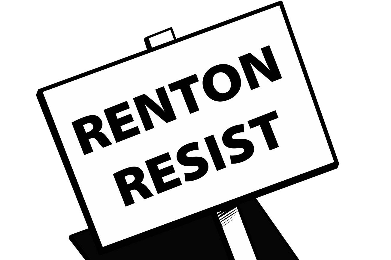 'Renton Resist' organizes immigrant solidarity rally on
