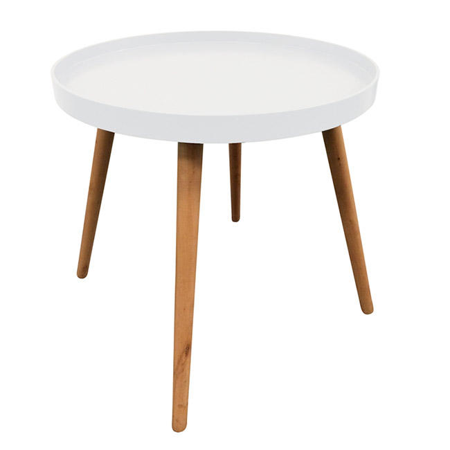 table basse ronde the concept factory blanche