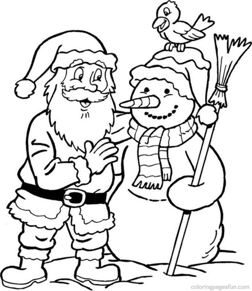 Kids Christmas Colouring Rent A Santa