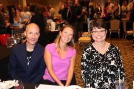 From left, Matt McDevitt, Kristen Dahlem and Connie Lee, president of Angioma Alliance