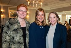 From left, Governance Committee chairwoman Nancy Traver of Traver IDC; Kristen Jacoby, president/chief professional officer of the United Way of Greater Waterbury; and United Way board chairwoman Kara J. Summa of Summa & Ryan Jim Shannon Republican-American