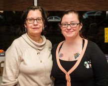 Maggie O'Brien and her daughter Colleen O'Brien both of Waterbury at the Hopeville Church's annual fundraiser dinner and silent auction at the Hopeville Church in Waterbury on Wednesday. Bill Shettle Republican-American