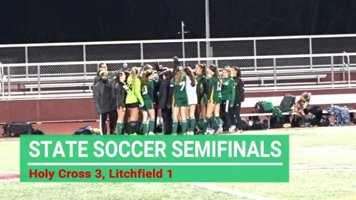 State soccer semifinals: Holy Cross downs Litchfield