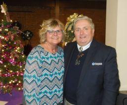 Sandie and Jim Nichol, executive vice president and COO of Thomaston Savings Bank