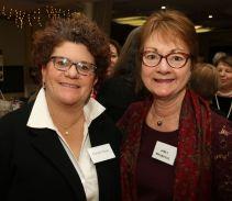 Litchfield First Selectman Denise Raap, left, and Janet Magnifico of Litchfield. John McKenna Photo