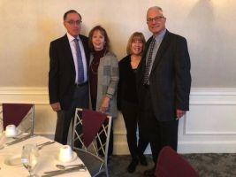 Member-at-Large Sandy Kales of Middlebury, Joan Reed of Southbury, June Kozloski of Waterbury, and Kris Atwood of Woodbury