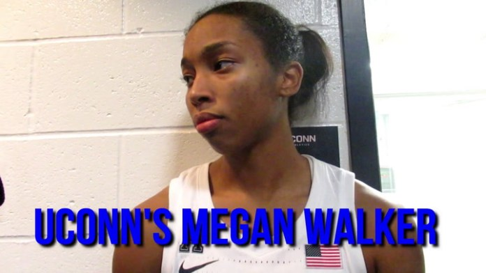 UConn's Megan Walker after win over Notre Dame