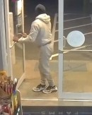 Police released still frame images taken from surveillance footage that show a crew suspected of stealing an ATM from Nutmeg Farms convenience store in Wolcott on Friday. Contributed/Wolcott Police Department