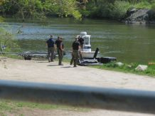 Searchers began the search Saturday afternoon for a man believed to be in the water. Ruth Epstein Republican-American