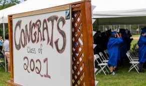 Oliver Wolcott Technical High School in Torrington held their graduation ceremonies at the school on Friday.