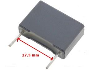 Condensateur classe x2 27,5mm