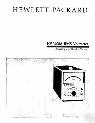 Agilent hp 3400A cali + mainten + oper & service manual