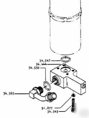 Clark forklift parts flow control 2330656 model C500