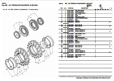 Yanmar YM276(D) Tractor Illustrated Master Parts List