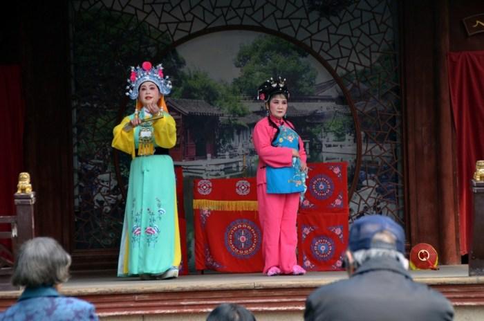 Scène d'opéra chinois à Tongli