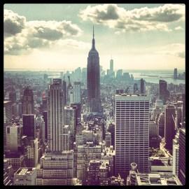 New York, vue du Rockerfeller tower