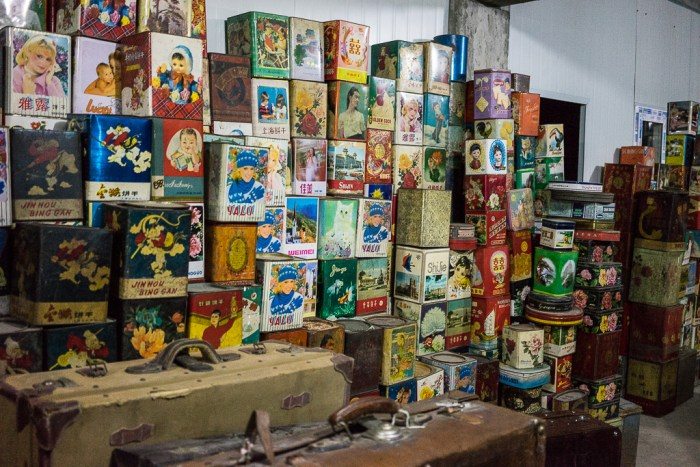 Vieilles boîtes vintage