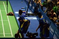 ...contre Li Junhui et Liu Yuchen - finale MD