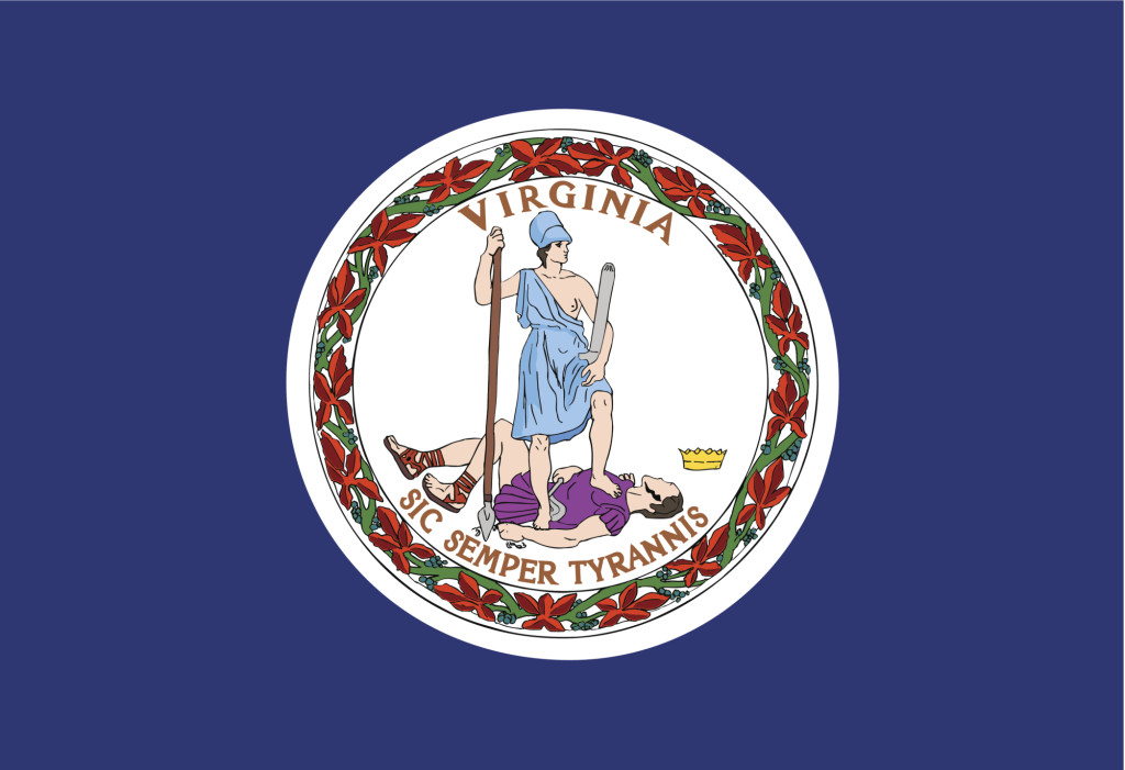 Virginia state flag. (tkacchuk/iStock/Thinkstock)