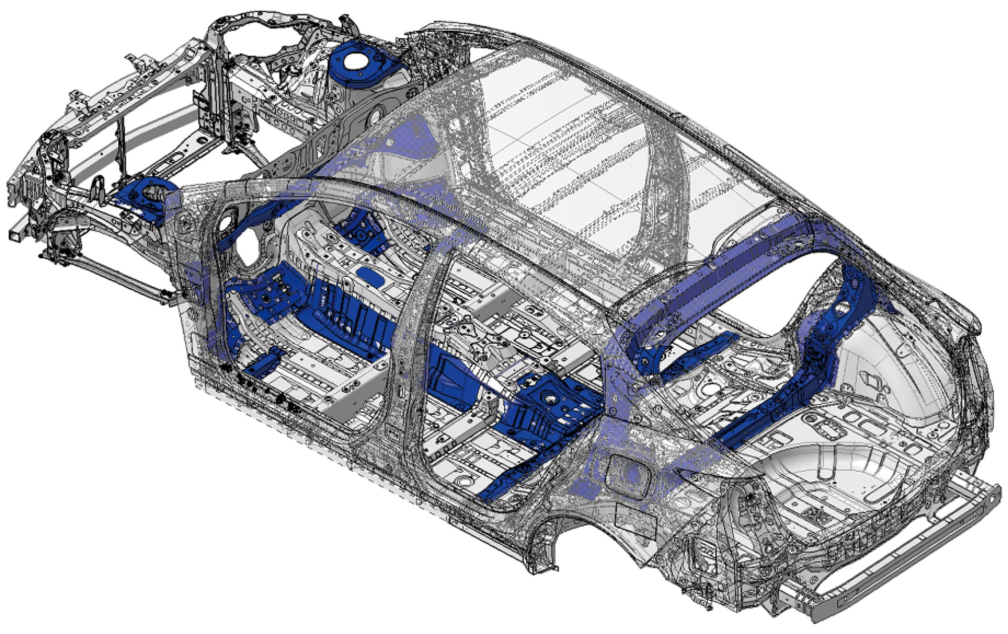 hight resolution of however it seems that the red and possibly some of the blue prius sections depicted might indicate the high tensile strength steel referenced in