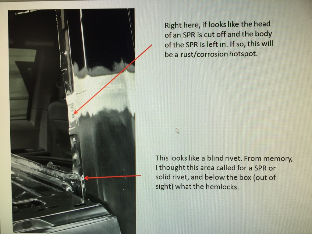 Jamie Boettcher of Summit Consulting caught a couple of aluminum F-150 repair errors on an Alan's Collision Center job after Alan's Collision posted to social media about the work. The issues have been corrected, Alan's Collision said. (Provided by Alan's Collision)