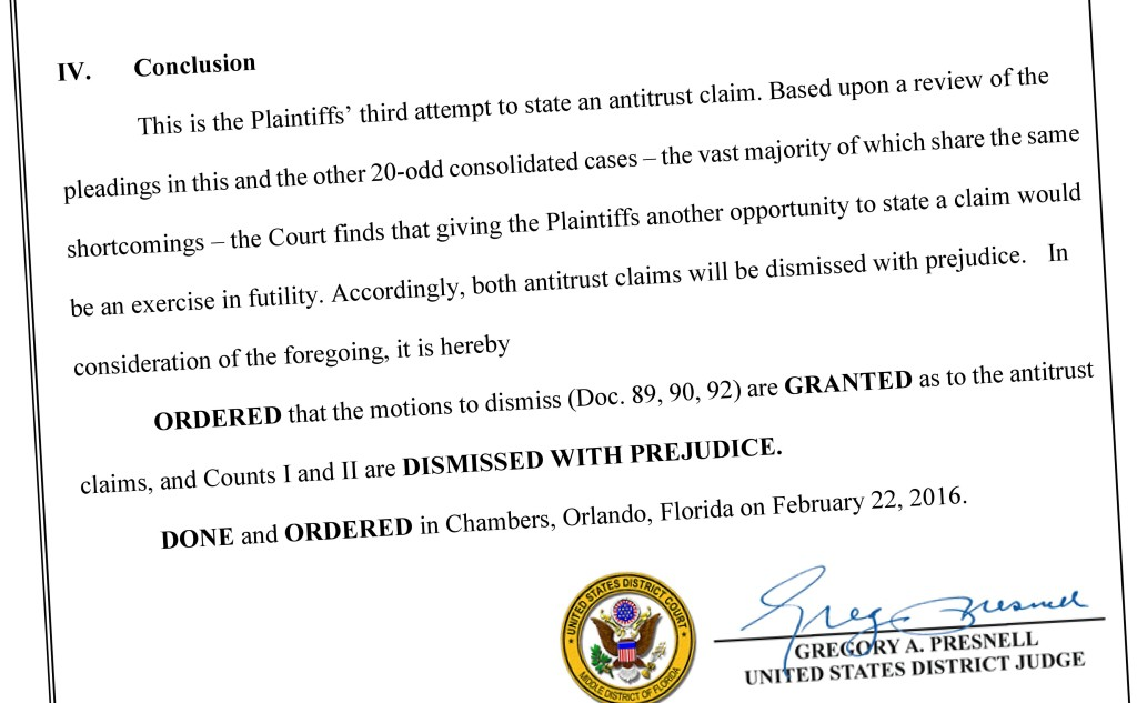 Part of the ruling in Capitol v. State Farm is shown. (Provided by Middle District of Florida)