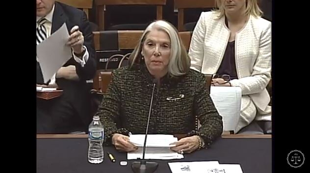 Felder's Collision Parts owner Pat Felder, seen here in a screenshot from subcommittee video, speaks Feb. 2, 2016, during the Courts, Intellectual Property, and the Internet Subcommittee of the House Judiciary Committee hearing on the PARTS Act. (Screenshot from House subcommittee video on YouTube)