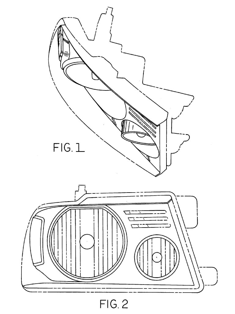 ford headlight d501685