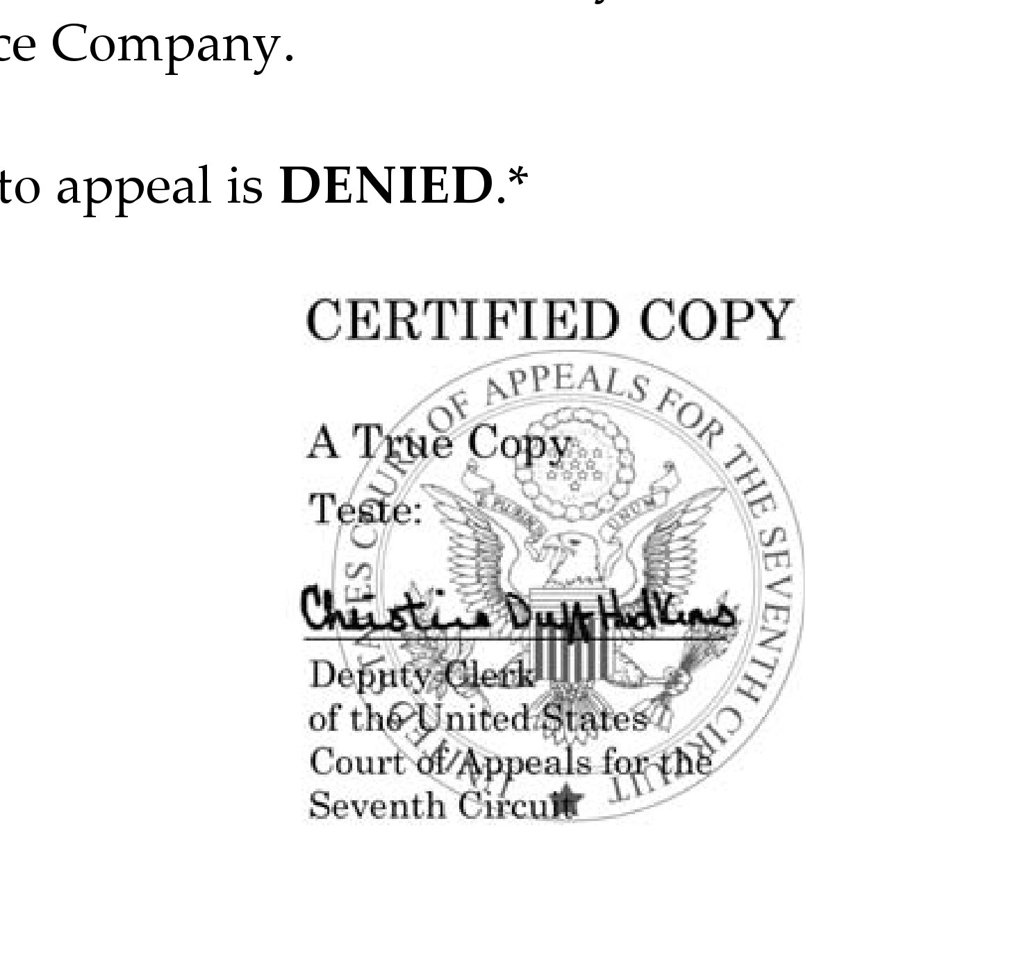 7th Circuit Denies State Farm Petition To Appeal Class