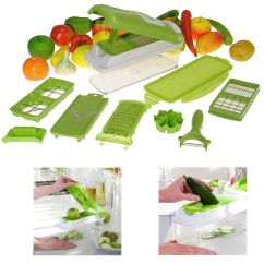 Kitchen Dicer Slicer Country Chair Cushions Nicer Plus 12 Pcs Salad Vegetable Fruit